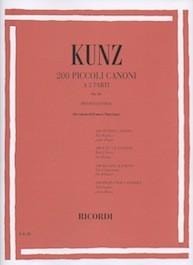 200 Piccoli Canoni a 2 Parti op.14